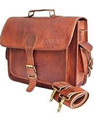 leather bags Vintage Leather Laptop Bag Messenger Handmade Briefcase Crossbody Shoulder Bag
