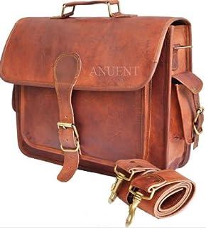 cbf9583d1f5 Leather Bags Vintage Leather Laptop Bag Messenger Handmade Briefcase  Crossbody Shoulder Bag (13 x 18
