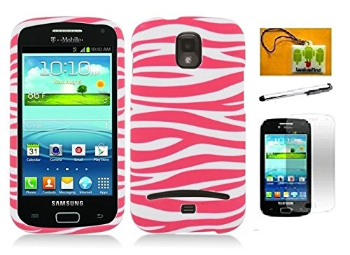 LF Designer Hard Case Cover, Lf Stylus Pen, Screen Protector & Wiper Bundle Accessory for T-Mobil Samsung Galaxy S Relay 4G T699 (Pink Zebra) (Samsung T Phones Mobil Cell)