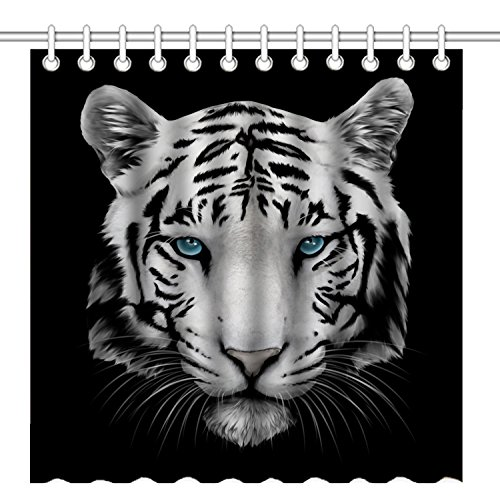 Tiger Shower Curtains Kritters In The Mailbox Tiger