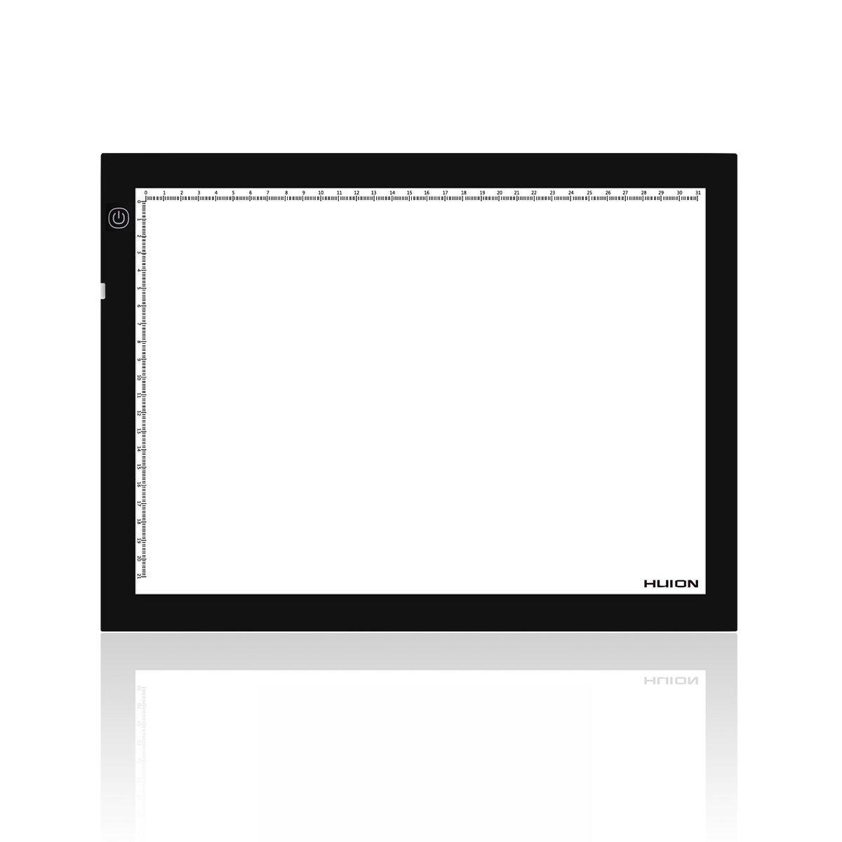 HUION, Cornice LED Luminosa, 36x 27cm, A4, luminosità Regolabile, Light Pad