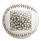 Nvthenpiaoliang Baseball Pattern Ball Soft Standard Practice Ball Baseball Game Ball