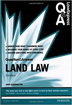 Book Land Law (Law Express Questions & Answers) by Duddington. John ( 2013 )