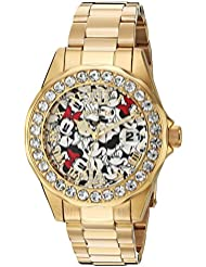 Invicta Womens Disney Limited Edition Quartz Stainless Steel Casual Watch, Color:Gold-Toned (Model: 24419)