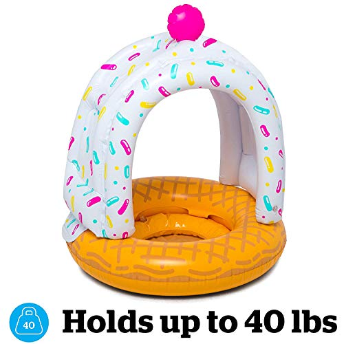 BigMouth Inc Lil' Cute Float with Canopy - Ultra-Durable Dual-Chamber 3-Point Harness w/ Child Safet - http://coolthings.us