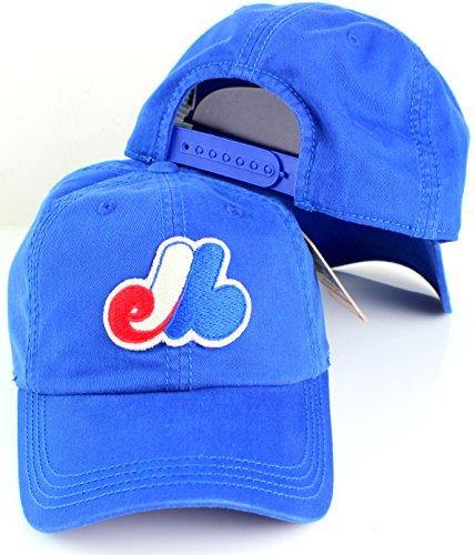 American Needle Baseball Cap - American Needle MLB New Timer Slouch Baseball Adjustable Snapback Hat (Montreal Expos)