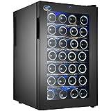 Electro Boss   28 Bottle Thermoelectic Wine Cooler   Black   Beverage Refrigerator   Reversible Door