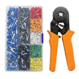 Crimp Tool Kit, LepoHome 800pcs Insulated Wire Terminals and Connectors Assortment with Ferrule Crimper Plier/Wire Crimper Tool