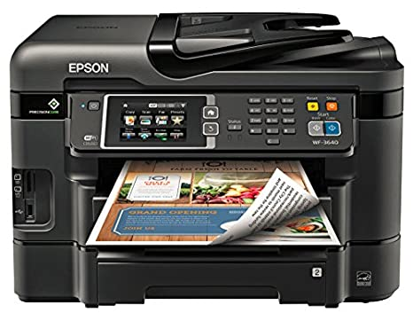 Epson Workforce WF-3640 Wireless Color All-in-One Inkjet Printer with Scanner and Copier