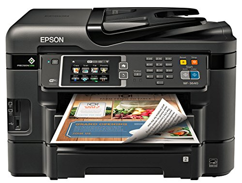 Epson Workforce WF-3640 Wireless Color All-in-One Inkjet Printer with Scanner and Copier (Best Color Printer For Business In India)
