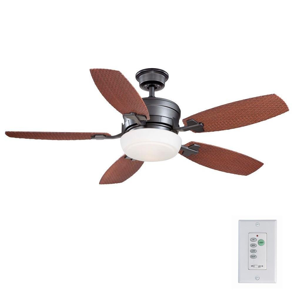 Home Decorators Collection Molique 54 In. Natural Iron Indoor/outdoor Ceiling Fan with Wall Control