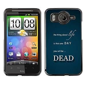 TopCaseStore / la caja del caucho duro de la cubierta de protección de la piel - Life Thing Dead Death Quote Inspirational - HTC G10