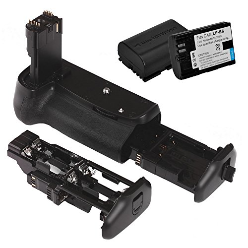 Neewer Battery Grip Holder Replacement For BG-E14 + 2x Rechargeable 7.4V 1800mAh Replacement LP-E6 Li-ion Battery Pack for Canon EOS 70D DSLR Camera