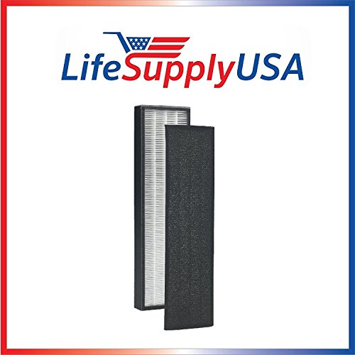 True HEPA + Pre Filter Replacement Filter for C FLT5250 PET Germ Guardian will fit Germguardian 5000 5111 and 5250 by LifeSupplyUSA