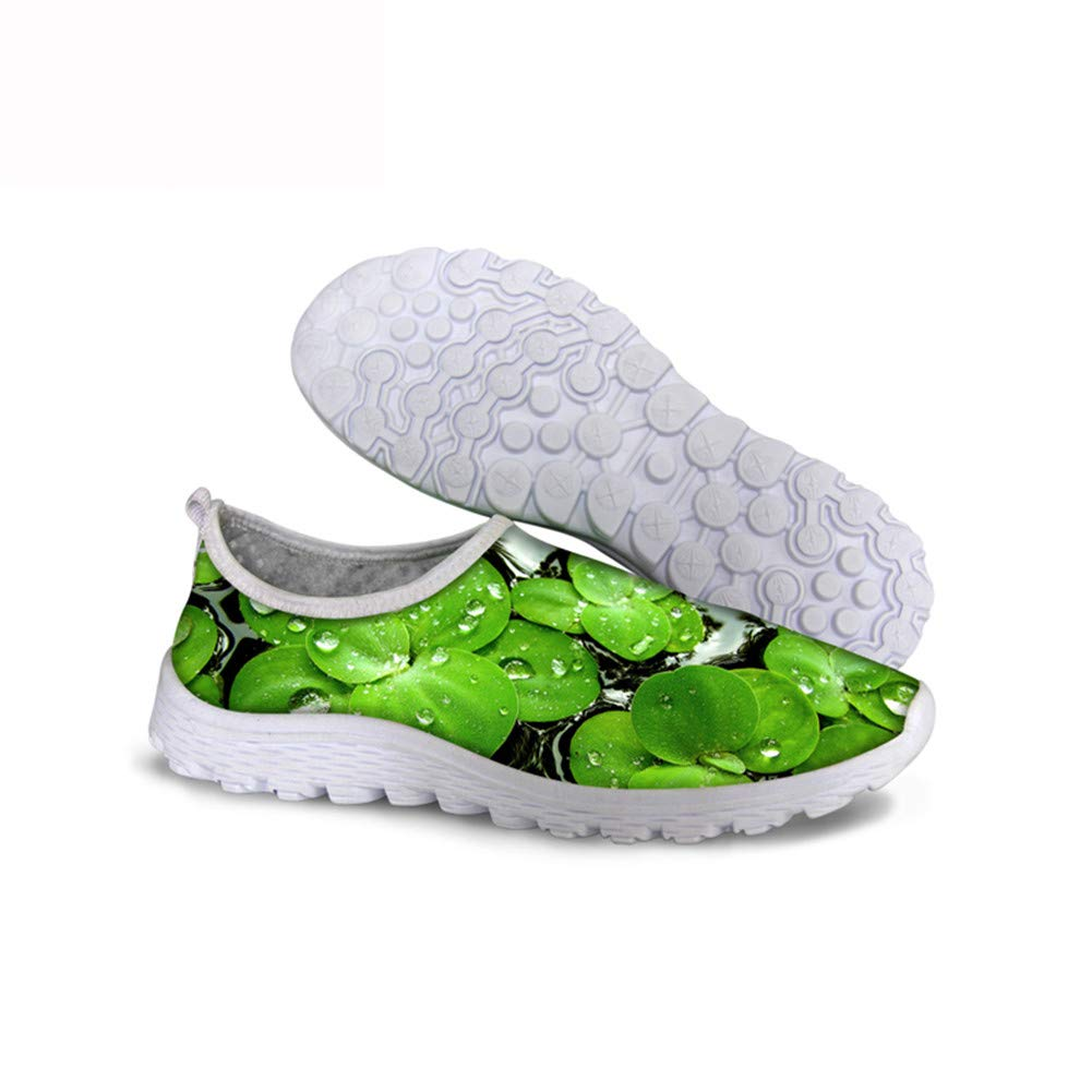 Fashion Green Printed Casual Breathable Lightweight Comfortable Running Shoes Non-Slip