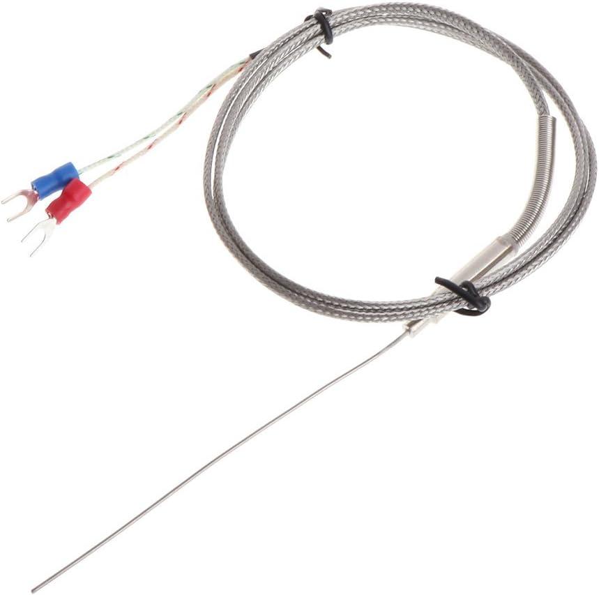 FangWWW K- sonda ermopair 1 mm x 100 mm 2 sensores de temperatura de cables 2 terminales 1 m