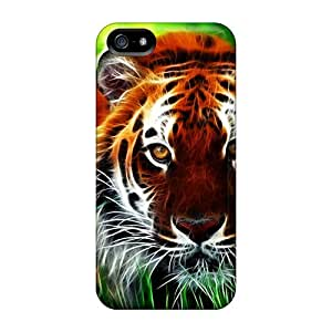 New WXa39033QupI Tiger Skin Cases Covers Shatterproof Cases For Iphone 5/5s