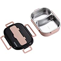 Volwco Leakproof Bento Lunch Box, Insulated Stainless Steel Square Food Storage Container for Kids School and Adults Office