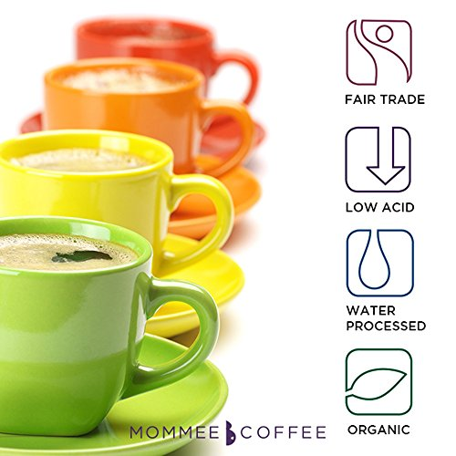 Mommee Coffee - Full Caff, Low Acid Coffee | Organic, Fair Trade | Ground, 12oz.