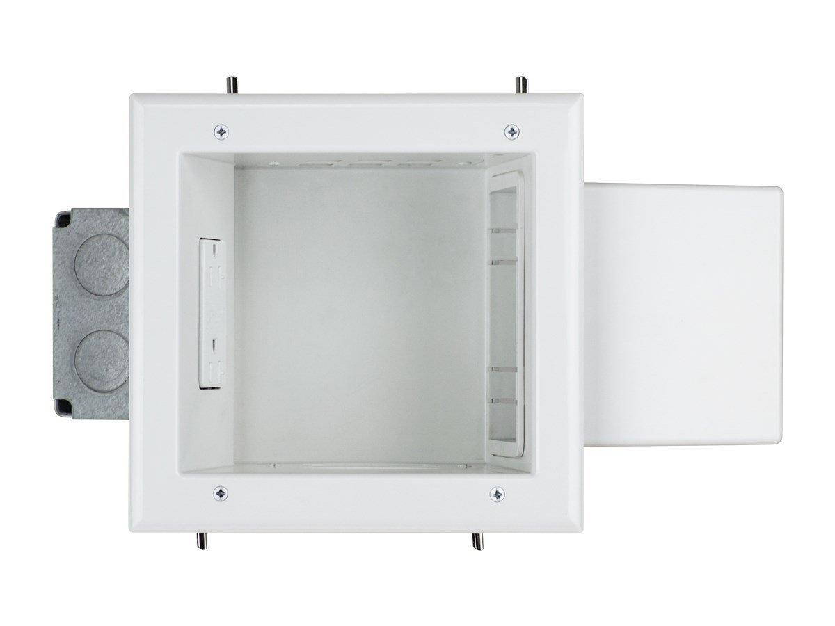 Monoprice Expandable Media Box with 20 Amp Receptacle, White