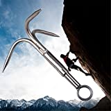 Cyfie 3-Claw Stainless Steel Outdoor Grappling Hook Climbing Claw