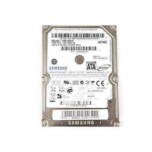 (Samsung 160 GB HM160HI HH100-15 SATA 2.5'' Hard Drive 450622-001)