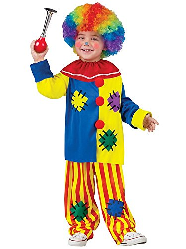 Fun World Costumes Baby Girl's Big Top Clown Toddler Costume, Yellow, Large -