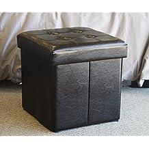 Folding Storage Brown Ottoman