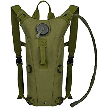 6e0ef53300e3 Bormart 3L 3 Liter 100 Ounce Hydration Pack Bladder Water Bag Pouch Hiking  Climbing Hunting Running Survival Outdoor Backpack