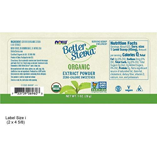 Cheap NOW Better Stevia Zero Calorie Sweetener Extract Powder, 1 Oz.
