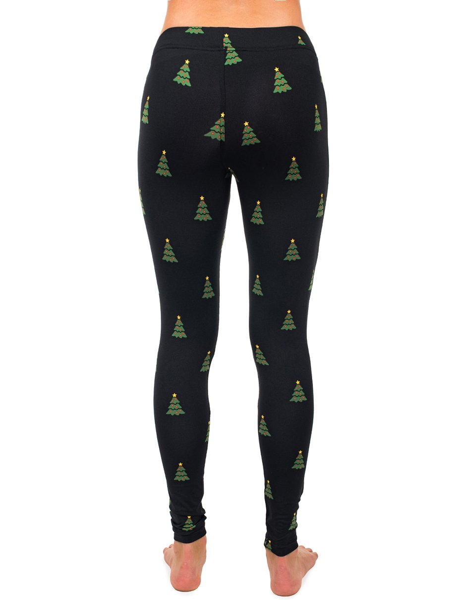 Tipsy Elves Women's Christmas Tree Leggings Holiday Pants (Large) by Tipsy Elves (Image #3)