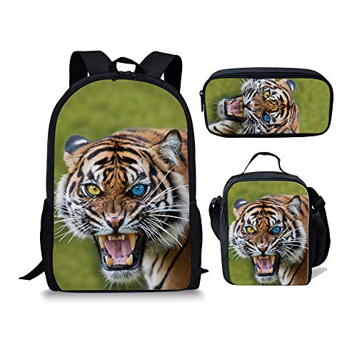 CHAQLIN S-CC3720CC+G+K, Sac pour femme à porter à l'épaule Bleu Tiger-6(3pcs) moyen Tiger-2(3pcs)