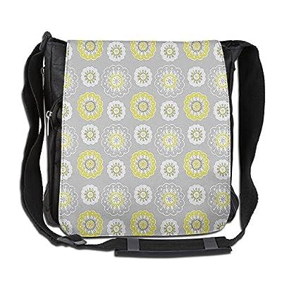Lovebbag Light Grey Backdrop With Indian Inspired Flowers Ivy Crossbody Messenger Bag new