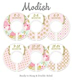 Modish Labels Baby Nursery Closet Dividers, Closet Organizers, Nursery Decor, Baby Girl, Pink, Gold, Confetti, Floral, Flowers