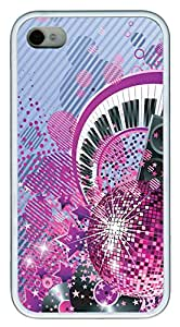 iPhone 4 4s Case, iPhone 4 4s Cases - Disco Fever TPU Polycarbonate Hard Case Back Cover for iPhone 4 4s¨C White