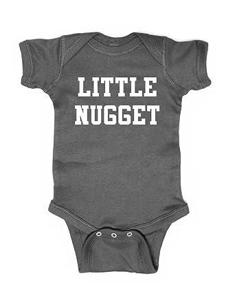 4ff4e1519 cuteandfunnykids Little Nugget - Cute Funny Baby one Piece Bodysuit  (Newborn Bodysuit, Charcoal)