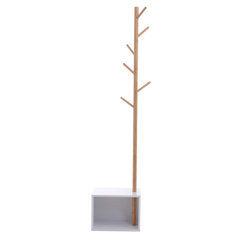 homcom Appendiabiti da Terra Attaccapanni Forma Albero Moderno Ingresso 35 /× 35 /× 185cm Nero