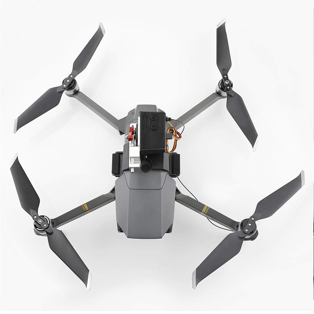 LONGZUYS Mavic Pro Drop Device Kit, Compatible Mavic Pro Upgrade Drone Clip Payload Delivery Drop Transport Device for DJI (Gray) by LONGZUYS (Image #2)
