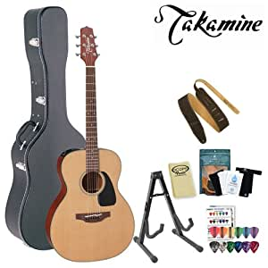 takamine p1m pro series acoustic electric guitar with stand humidifier pack suede. Black Bedroom Furniture Sets. Home Design Ideas