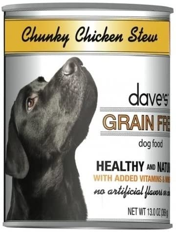 Dave S Grainfree Canned Dog Food Chunky Chicken Stew Recipe 12 Cans Per Case
