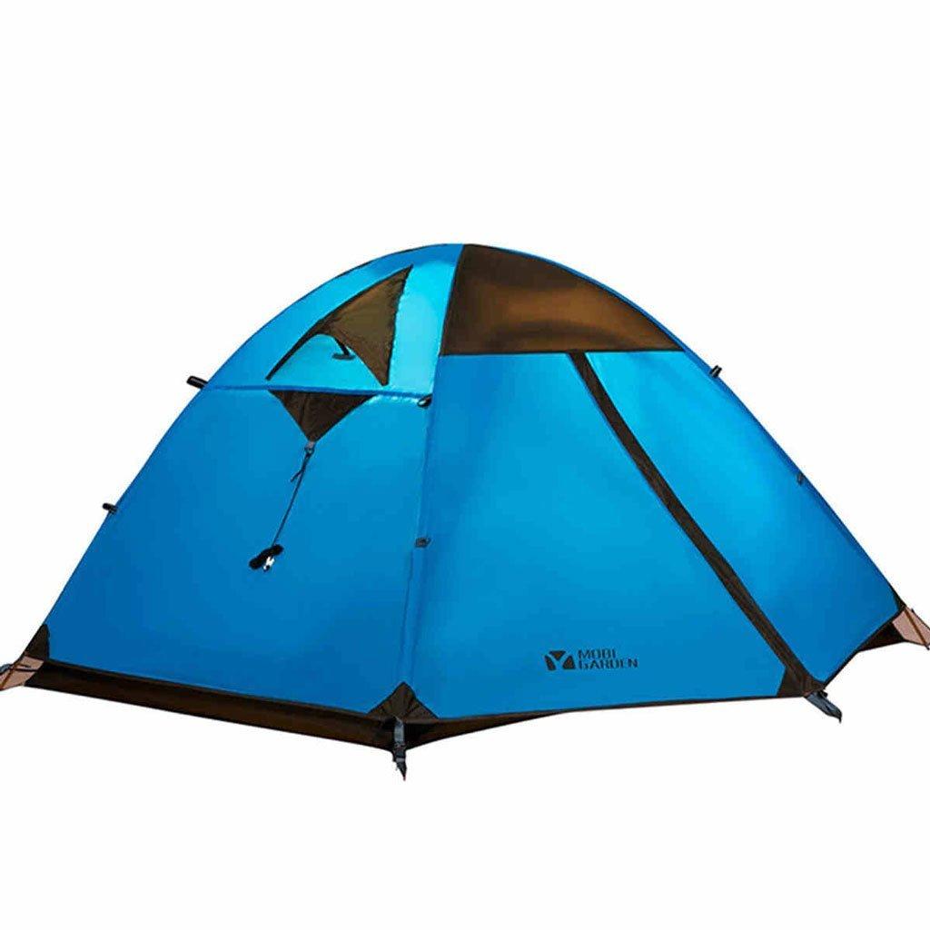 Outdoor-Sport Bergsteigen Zelt Campingausrüstung gegen Sturmwind Viertel Campingzelt Aluminiumpfosten Doppel drei beliebtesten Modelle