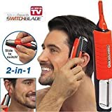 personal touch razor handle - ZeHui Micro Personal Beard Hair Touch Trimmer Shaver Man 2 in 1 Dual End Trimmer Clipper Grooming Remover Anti-skid Handle with LED Light