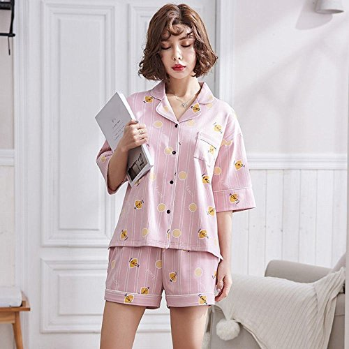 vestiti a pigiama in UN indossare maniche dolce pigiama XL per corte AN casa la cotone estivo può estivo in estivo nHZYqdxg