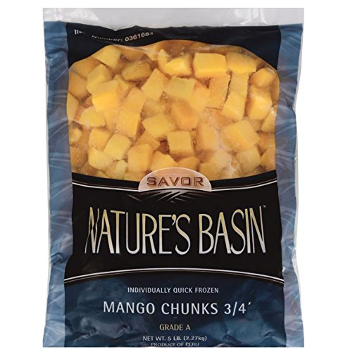 Nature's Basin Frozen Mango Chunks, 5 lb, (Pack of 2) by Nature's Basin