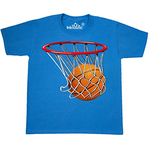 (inktastic - Basketball Youth T-Shirt Youth X-Large (18-20) Pacific Blue 32e6)