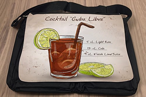 Borsa Tracolla Bar Party Cocktail Cuba Libre Stampato