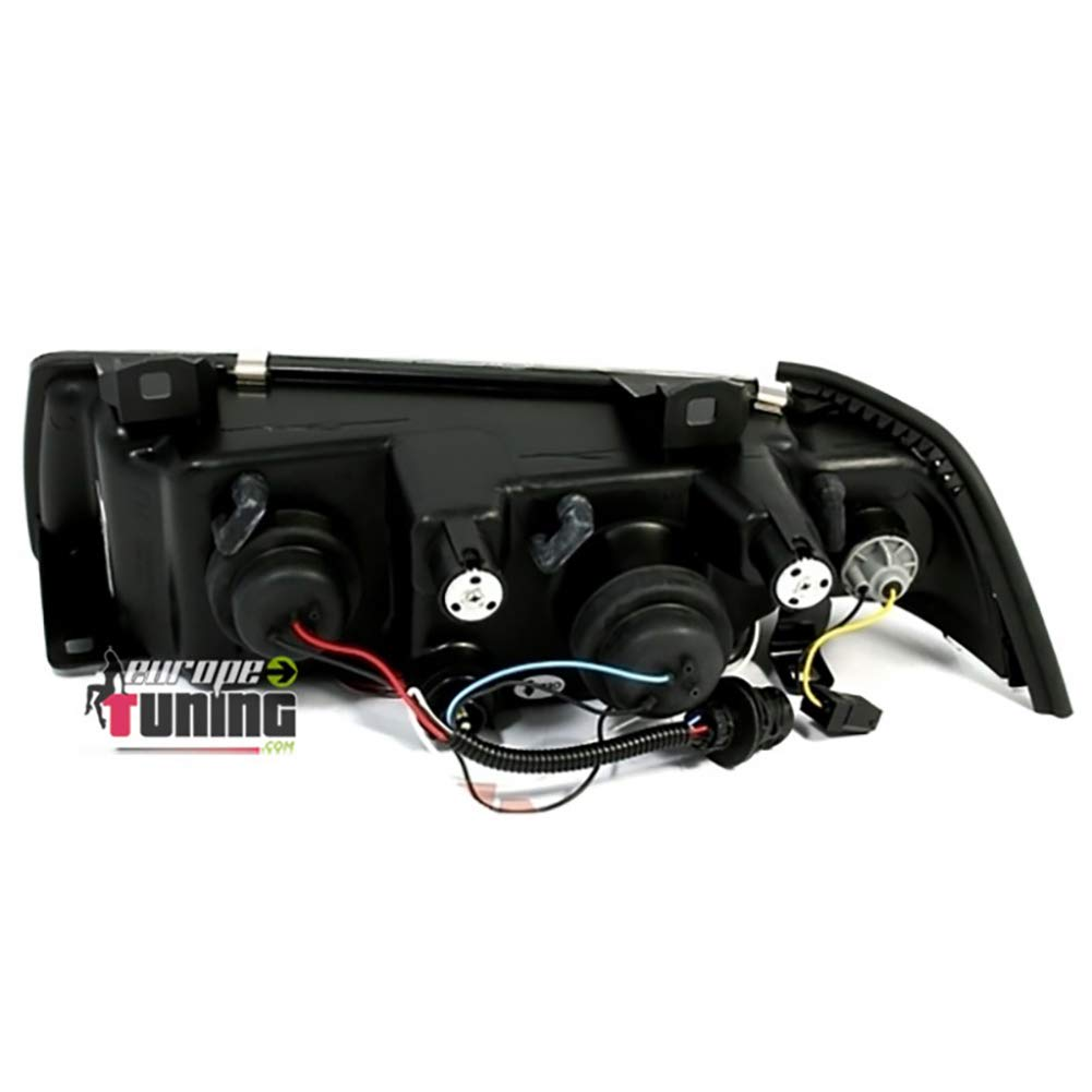03300 PHARES FEUX NOIRS ANGEL EYES ANNEAUX LED SERIE 3 E36 COUPE CABRIOLET europetuning
