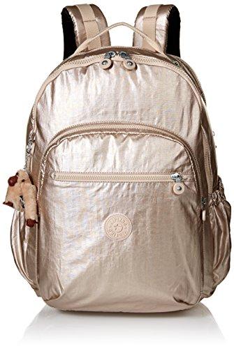 (Kipling Seoul GO XL Sparkly Gold Laptop Backpack, SPARKLYGLD)
