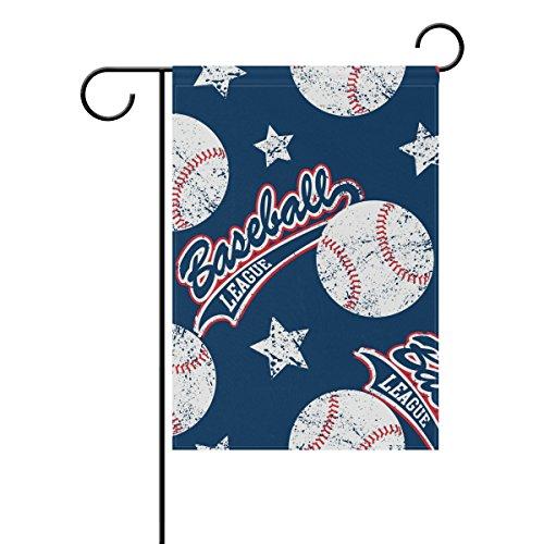 U LIFE Vintage Baseball Sports Game Garden Flag Flags Yard B