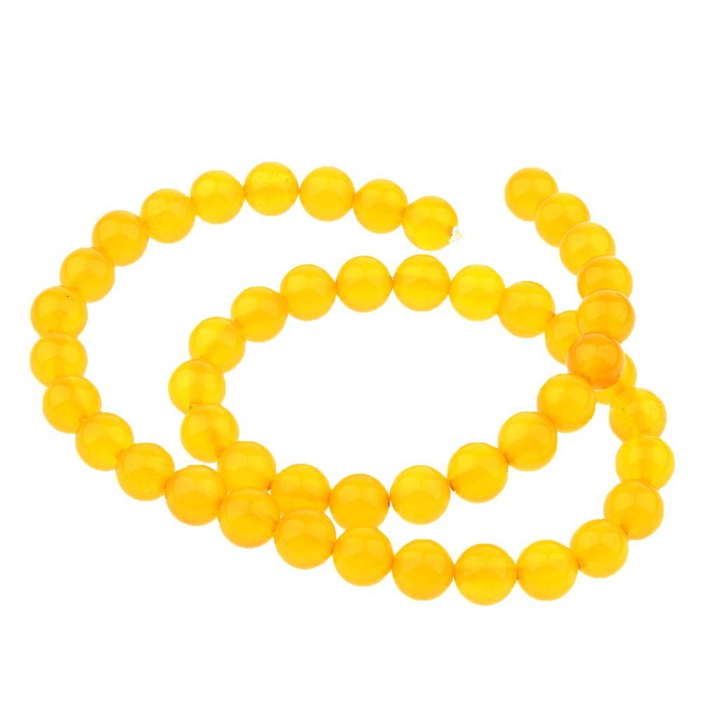 4 mm P Prettyia Abalorios Flojos de /Ágata Natural Amarillo Accesorios para Hacer Collar Brazalete